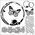 The Crafter's Workshop - 6 x 6 Doodling Templates - Mini Butterfly Collage