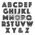 The Crafters Workshop - 6 x 6 Doodling Templates - Mini Art Deco Alphabet