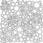 The Crafters Workshop - 6 x 6 Doodling Templates - Mini Hex Flowers