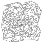 The Crafters Workshop - 12 x 12 Doodling Templates - Shattered Triangles