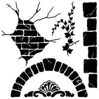 The Crafter's Workshop - 6 x 6 Stencils - Mini Tuscan Wall