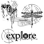 The Crafters Workshop - 12 x 12 Doodling Templates - Winged Exploration