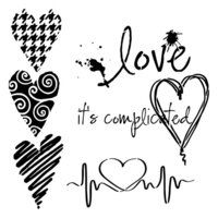 The Crafter's Workshop - 6 x 6 Stencils - Mini Complicated Hearts