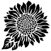The Crafter's Workshop - 6 x 6 Stencils - Mini Joyful Sunflower