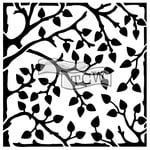 The Crafters Workshop - 6 x 6 Doodling Templates - Mini Leafy Branches