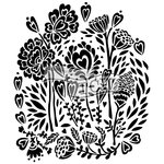 The Crafters Workshop - 12 x 12 Doodling Templates - Wild Bouquet