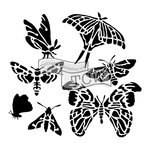 The Crafters Workshop - 12 x 12 Doodling Templates - Graceful Moths