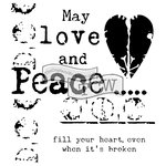 The Crafters Workshop - 6 x 6 Doodling Templates - Mini Love and Peace