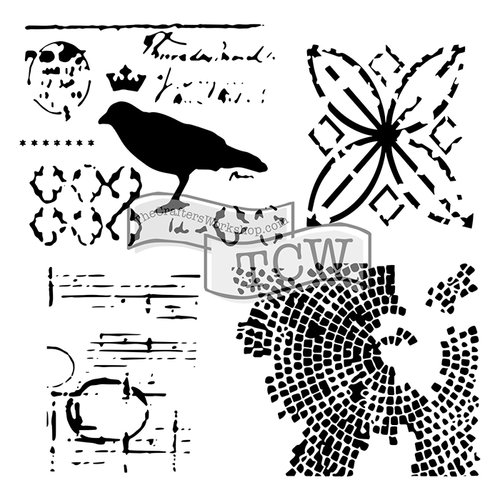The Crafters Workshop - 12 x 12 Doodling Templates - Raven Mosaic