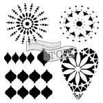 The Crafters Workshop - 6 x 6 Doodling Templates - Mini Moroccan Sun