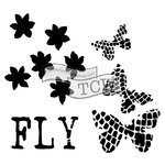 The Crafters Workshop - 12 x 12 Doodling Templates - Butterflight