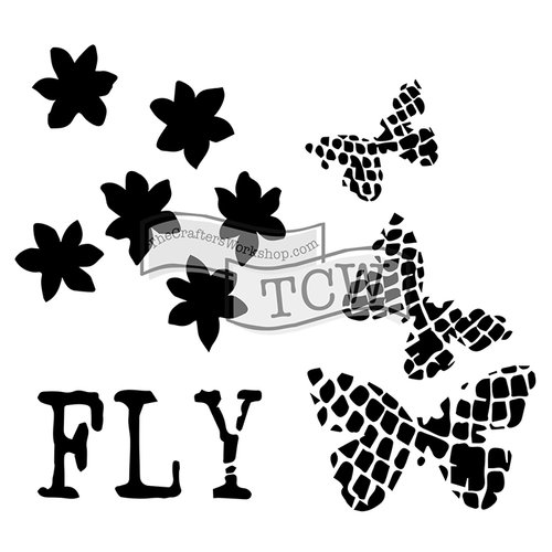 The Crafters Workshop - 6 x 6 Doodling Templates - Mini Butterflight