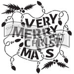 The Crafters Workshop - 6 x 6 Doodling Templates - Mini Christmas Lights