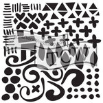 The Crafters Workshop - 12 x 12 Doodling Template - Doodled Pattern