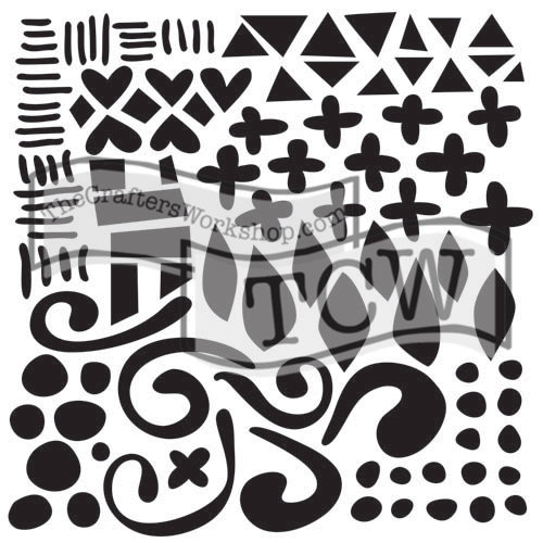 The Crafters Workshop - 6 x 6 Doodling Templates - Mini Doodled Pattern