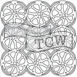 The Crafters Workshop - 6 x 6 Doodling Templates - Mini Orange Slices