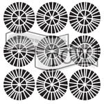 The Crafters Workshop - 12 x 12 Doodling Template - Spikey Wheels
