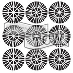 The Crafters Workshop - 6 x 6 Doodling Template - Spikey Wheels