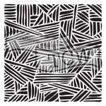 The Crafters Workshop - 12 x 12 Doodling Templates - Overlapping Stripes