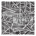 The Crafters Workshop - 6 x 6 Doodling Templates - Mini Overlapping Stripes