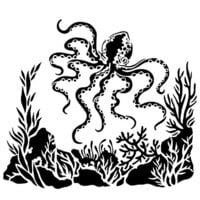 The Crafter's Workshop - 6 x 6 Stencils - Mini Octopus