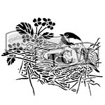 The Crafters Workshop - 12 x 12 Doodling Template - Bird Nest