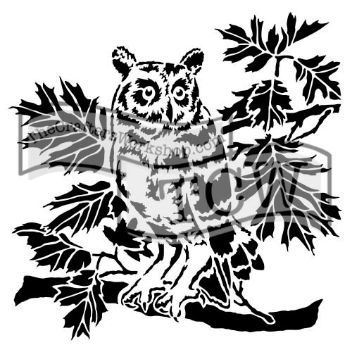 The Crafters Workshop - 12 x 12 Doodling Templates - Curious Owl