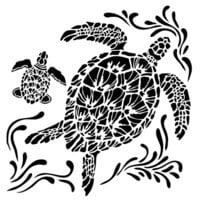 The Crafter's Workshop - 6 x 6 Stencils - Mini Sea Turtles