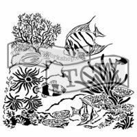 The Crafters Workshop - 6 x 6 Doodling Templates - Mini Aquarium