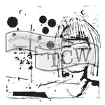 The Crafters Workshop - 6 x 6 Doodling Template - Dream Girl