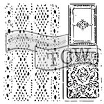 The Crafters Workshop - 12 x 12 Doodling Template - Cards and Lace