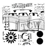 The Crafters Workshop - 6 x 6 Doodling Templates - Mini Three Tags