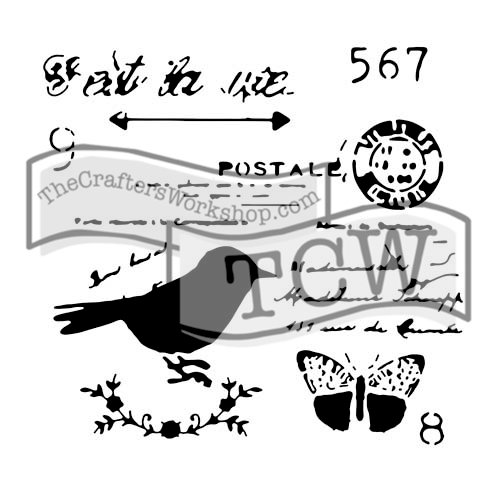 The Crafters Workshop - 12 x 12 Doodling Templates - Chickadee Post