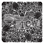 The Crafters Workshop - 6 x 6 Doodling Template - Doodle Bloom