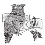 The Crafters Workshop - 12 x 12 Doodling Templates - Wise Owl