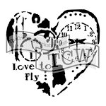 The Crafters Workshop - 12 x 12 Doodling Templates - Love to Fly