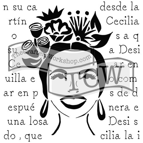 The Crafters Workshop - 6 x 6 Doodling Templates - Mini Chica Florita