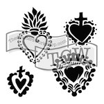 The Crafters Workshop - 12 x 12 Doodling Templates - Regal Hearts