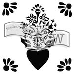 The Crafters Workshop - 6 x 6 Doodling Templates - Mini Corazon
