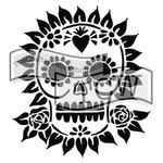 The Crafters Workshop - 12 x 12 Doodling Templates - Sugar Skull