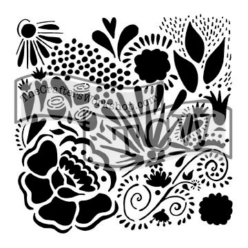 The Crafters Workshop - 6 x 6 Doodling Templates - Mini Chica Doodle