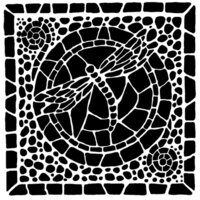The Crafter's Workshop - 6 x 6 Stencils - Winged Mosaic