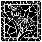 The Crafters Workshop - 6 x 6 Doodling Templates - Stained Glass Daisies