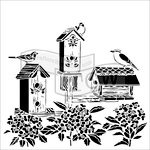 The Crafter's Workshop - 12 x 12 Doodling Templates - Bird Houses
