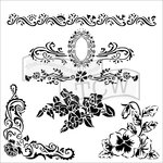 The Crafter's Workshop - 12 x 12 Doodling Templates - Floral Flourish