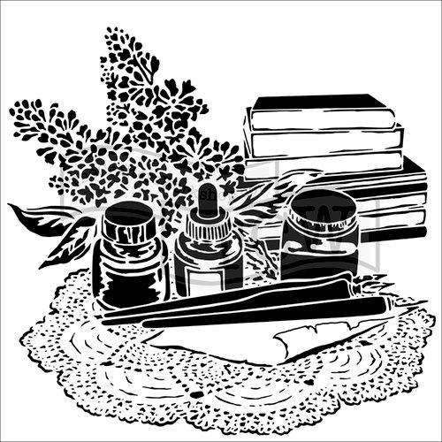 The Crafter's Workshop - 12 x 12 Doodling Templates - Literary