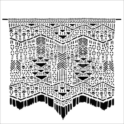 The Crafter's Workshop - 12 x 12 Doodling Templates - Macrame