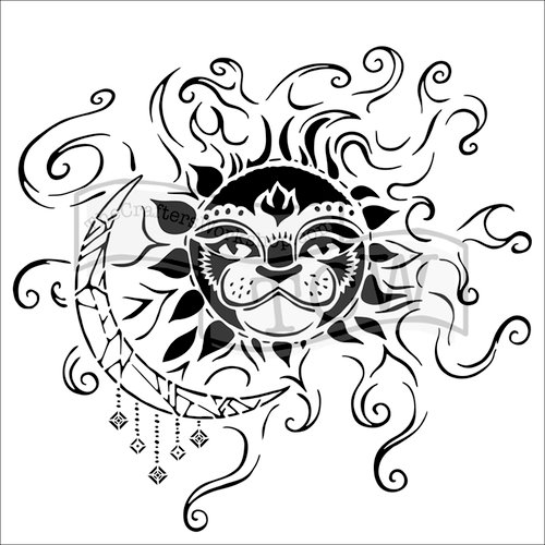 The Crafters Workshop - 6 x 6 Doodling Templates - Sun and Moon