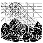 The Crafters Workshop - 6 x 6 Doodling Templates - Geo Landscape