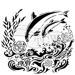 The Crafters Workshop - 6 x 6 Doodling Templates - Dolphins